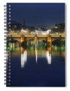 River Liffey At Night, Oconnell Street Spiral Notebook