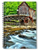 River Rock And A Grist Mill Spiral Notebook