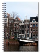 River Scenes From Amsterdam Spiral Notebook