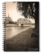 River Seine And Cathedral Notre Dame Spiral Notebook