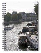 River Seine. Paris Spiral Notebook