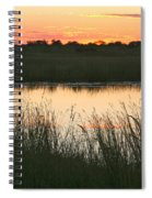 River Sunset Spiral Notebook