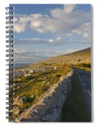 Road Along The Burren Coastline Region Spiral Notebook