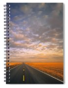 Road Into Sunset Spiral Notebook