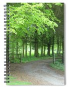 Road Into The Woods Spiral Notebook
