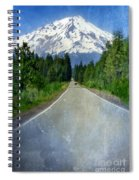 Road Leading To Snow Covered Mount Shasta Spiral Notebook