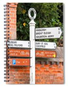 Road Signs Spiral Notebook