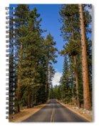 Road Through Lassen Forest Spiral Notebook