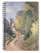 Road Turning Under Trees Spiral Notebook