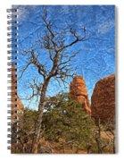 Rock Garden Skeleton Arches National Park Spiral Notebook
