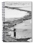 Rock Lake Crossing In Black And White  Spiral Notebook