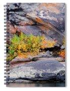 Rock Shrub And Bluff At Cumberland Falls State Park Spiral Notebook