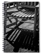 Rocking Chair Lit By The Afternoon Sun Spiral Notebook