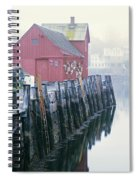 Rockport Harbor And Cages Spiral Notebook