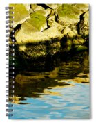 Rocks And Reflections On Ocean Spiral Notebook