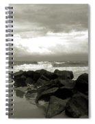 Rocks At Folly Beach Sc Spiral Notebook