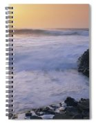 Rocks On The Beach, Giants Causeway Spiral Notebook