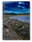 Rocky Beach In Western Canada Spiral Notebook