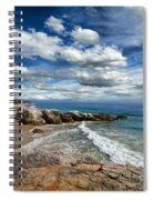 Rocky Coast In Malibu California Spiral Notebook
