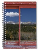 Rocky Mountain Autumn Red Rustic Picture Window Frame Photos Art Spiral Notebook