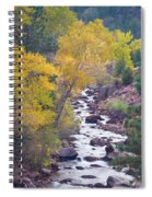 Rocky Mountain Golden Canyon Scenic View Spiral Notebook