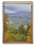 Rocky Mountain Picture Window Scenic View Spiral Notebook
