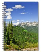 Rocky Mountain View From Mount Revelstoke Spiral Notebook