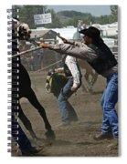 Rodeo Wild Horse Race Spiral Notebook