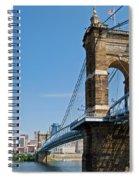 Roebling Bridge To Cincinnati Spiral Notebook