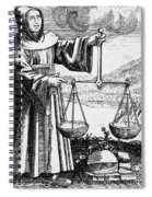 Roger Bacon Conducting An Experiment Spiral Notebook