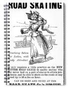 Roller Skates, 1896 Spiral Notebook