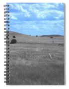 Rolling Farmland In Blue Light Spiral Notebook