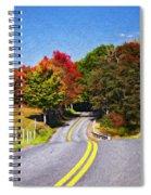 Rolling Thru West Virginia Impasto Spiral Notebook