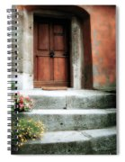 Roman Door And Steps Rome Italy Spiral Notebook