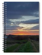 Roman Wall Sunrise II Spiral Notebook