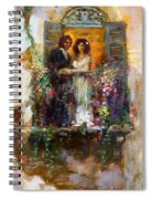 Romance In Venice  Fragment Balcony Spiral Notebook