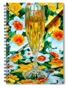 Romantic Gold Spiral Notebook
