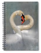 Romantic Image Of Courting Swans Spiral Notebook
