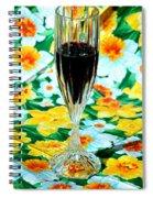 Romantic Royal Blue Spiral Notebook