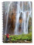 Romantic Scenery By The Waterfall Spiral Notebook