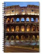 Rome Colosseum Dusk Spiral Notebook