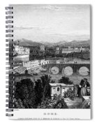 Rome: Scenic View, 1833 Spiral Notebook