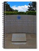 Ronald Reagan Memorial Spiral Notebook