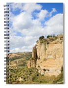 Ronda Cliffs In Andalusia Spiral Notebook