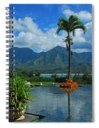 Rooftop Fountain In Paradise Spiral Notebook