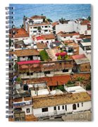 Rooftops In Puerto Vallarta Mexico Spiral Notebook