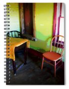 Room With Red Chair Spiral Notebook