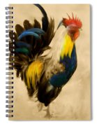 Rooster On The Prowl 2 - Vintage Tonal Spiral Notebook