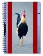 Rooster Triptych Spiral Notebook