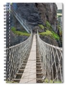 Rope Bridge At Carrick-a-rede In Northern Island Spiral Notebook